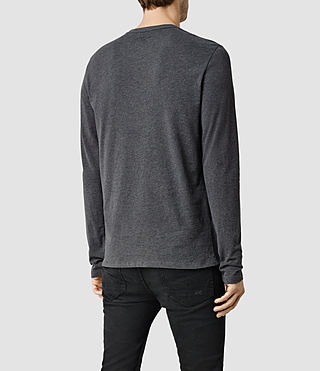 Mens Brace Long Sleeve Tonic Crew T-Shirt (CHARCOALMARL) - product_image_alt_text_3