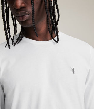 Hombre Brace Long Sleeved Tonic Crew T-Shirt (Optic White) - product_image_alt_text_2