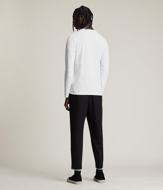 Mens Brace Long Sleeve Tonic Crew T-Shirt (Optic White) - Image 4