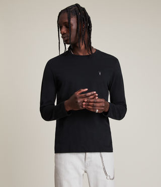 Men's Brace Long Sleeve Tonic Crew T-Shirt (Jet Black) - Image 4