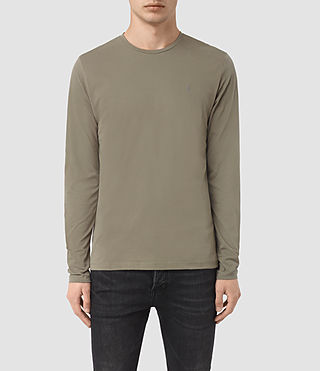 Uomo Brace Long Sleeve Tonic Crew T-Shirt (QUARRY GREY)
