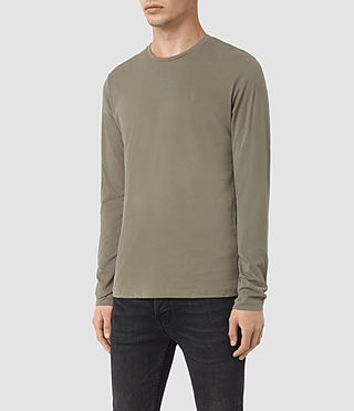 Uomo Brace Long Sleeve Tonic Crew T-Shirt (QUARRY GREY) - product_image_alt_text_2