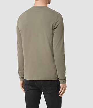 Uomo Brace Long Sleeve Tonic Crew T-Shirt (QUARRY GREY) - product_image_alt_text_3