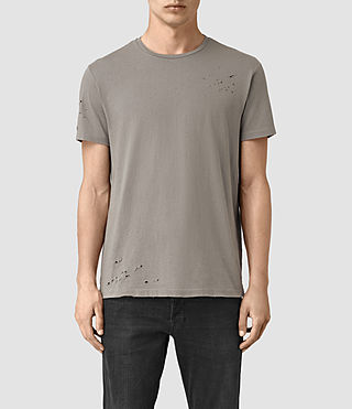 Hombres Anchor Crew T-Shirt (Putty)