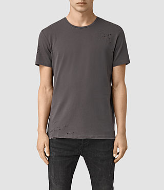 Herren Anchor Crew T-Shirt (Washed Black)