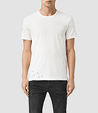 Hommes Anchor Crew T-Shirt (Chalk White)