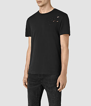 Hommes Anchor Crew T-Shirt (Black) - product_image_alt_text_3