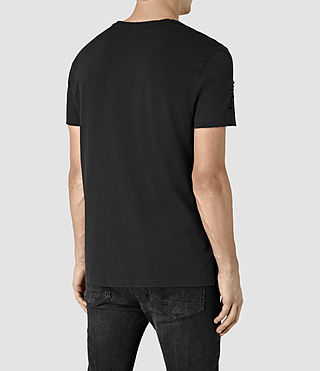 Hombre Anchor Crew T-Shirt (Black) - product_image_alt_text_4