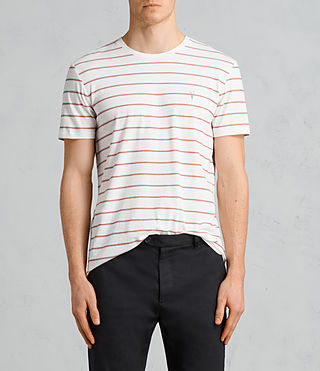 Mens Tonic Dean Crew T-Shirt (CHALK WHITE/RED) - Image 1