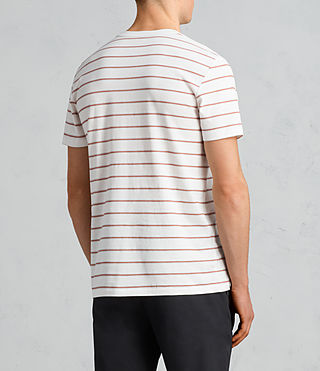 Mens Tonic Dean Crew T-Shirt (CHALK WHITE/RED) - Image 4