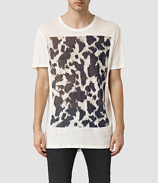 Hommes Cadfer Montaud Crew T-Shirt (CHALK WHITE/BLACK)