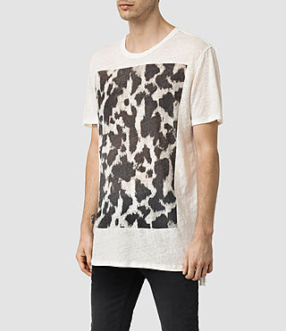 Hombres Cadfer Montaud Crew T-Shirt (CHALK WHITE/BLACK) - product_image_alt_text_2