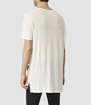 Hombres Cadfer Montaud Crew T-Shirt (CHALK WHITE/BLACK) - product_image_alt_text_3