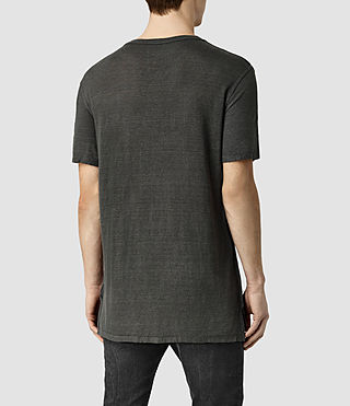 Mens Cadfer Montaud Crew T-Shirt (Grey/Black) - product_image_alt_text_3