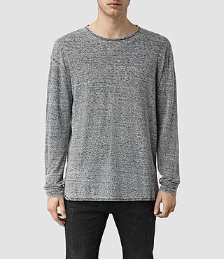 Mens Eligh Long Sleeve Crew T-Shirt (Charcoal Marl)