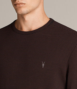 Herren Rift Stripe Crew T-Shirt (JET BLACK/RED) - Image 2