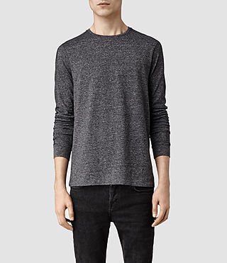 Mens Jontrey Long Sleeved Crew T-shirt (Charcoal Marl)