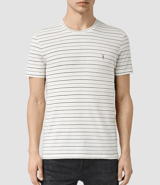 Uomo August Tonic Crew T-Shirt (CHK WHTE/PUTTY GRY)