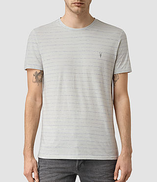 Uomo August Tonic Crew T-Shirt (MIRAGE BLU/GRY MRL) -