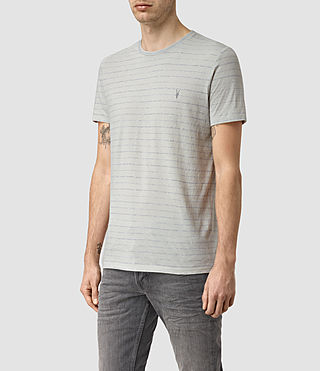 Mens August Tonic Crew T-Shirt (MIRAGE BLU/GRY MRL) - product_image_alt_text_3