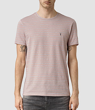 Hommes August Tonic Crew T-Shirt (Sphinx PNK/GRY MRL) -