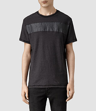 Mens Diagon Crew T-shirt (Charcoal/Black)