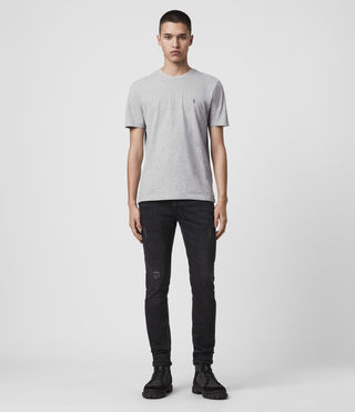 Men's Brace Tonic Crew T-Shirt (Grey Marl) - Image 3