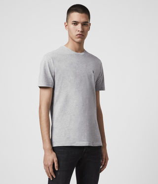 Mens Brace Tonic Crew T-Shirt (Grey Marl) - product_image_alt_text_4