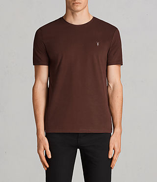 Herren Brace Tonic Crew T-Shirt (BURNT RED) - Image 1