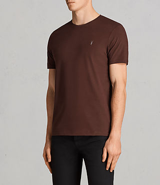 Herren Brace Tonic Crew T-Shirt (BURNT RED) - Image 3