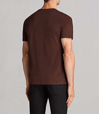 Herren Brace Tonic Crew T-Shirt (BURNT RED) - Image 4