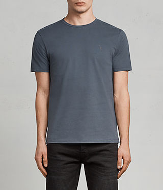 Hombres Brace Tonic Crew T-Shirt (WASHED NAVY)