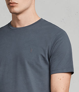 Hommes Brace Tonic Crew T-Shirt (WASHED NAVY) - product_image_alt_text_2