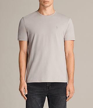 Herren Brace Tonic Crew T-Shirt (Pebble Grey) - Image 1
