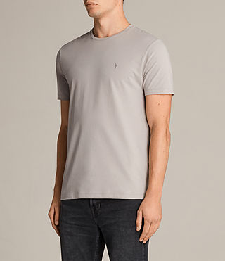 Herren Brace Tonic Crew T-Shirt (Pebble Grey) - Image 3
