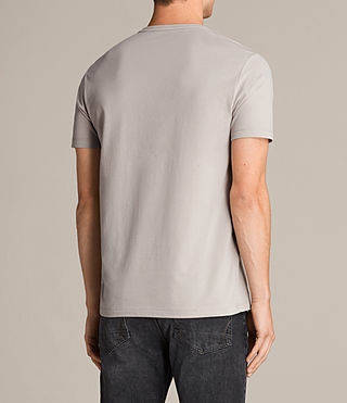 Herren Brace Tonic Crew T-Shirt (Pebble Grey) - Image 4