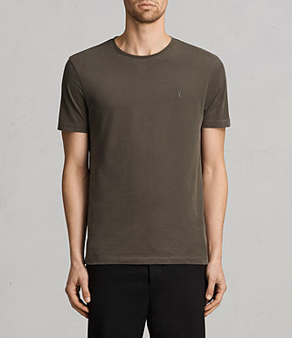 Mens Brace Tonic Crew T-Shirt (Olive Green)