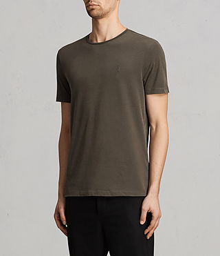 Herren Brace Tonic Crew T-Shirt (Olive Green) - product_image_alt_text_2