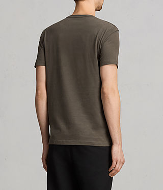 Herren Brace Tonic Crew T-Shirt (Olive Green) - product_image_alt_text_3