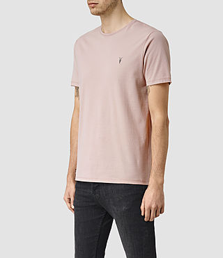 Hombres Brace Tonic Crew T-Shirt (Sphinx Pink) - product_image_alt_text_3