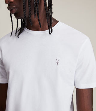 Men's Brace Tonic Crew T-Shirt (Optic White) - product_image_alt_text_2