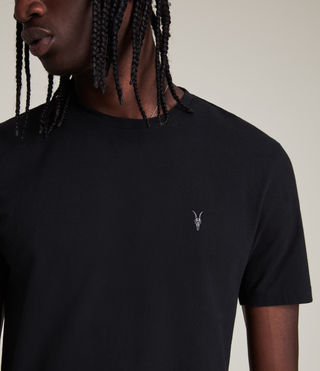 Men's Brace Tonic Crew T-Shirt (Jet Black) - product_image_alt_text_2