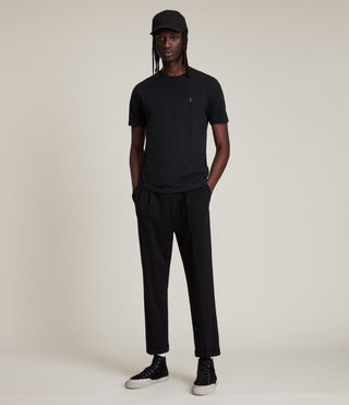 Men's Brace Tonic Crew T-Shirt (Jet Black) - product_image_alt_text_3