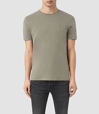 Hombres Brace Tonic Crew T-Shirt (QUARRY GREY)