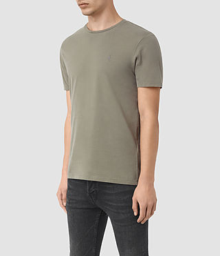 Uomo Brace Tonic Crew T-Shirt (QUARRY GREY) - product_image_alt_text_2