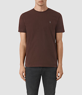 Mens Brace Tonic Crew T-Shirt (Damson Red) - product_image_alt_text_1