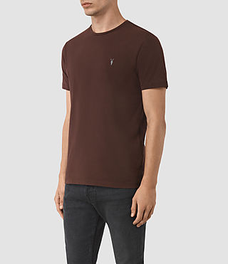 Mens Brace Tonic Crew T-Shirt (Damson Red) - product_image_alt_text_2