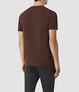 Mens Brace Tonic Crew T-Shirt (Damson Red) - product_image_alt_text_3