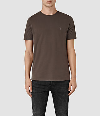 Hombres Brace Tonic Crew T-Shirt (Pewter Brown)