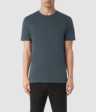 Uomo Brace Tonic Crew T-Shirt (LEAD BLUE) -